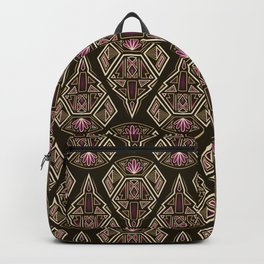 art deco pattern ornament Backpack