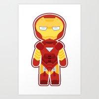 Chibi Iron Man Art Print