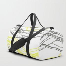 Yellow & Greay decor Duffle Bag