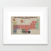 mortal instruments Framed Art Prints featuring The Mortal Instruments Periodic Table of Characters by thespngames
