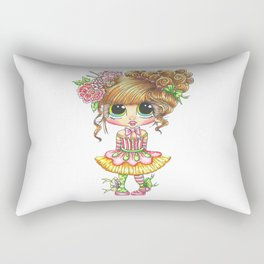 Sherri Baldy My Besties Sugar Plum Treats Big Eyed Art Rectangular Pillow