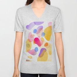 Pattern, wallpaper, forme e colore Unisex V-Neck