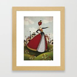 Off with their heads Queen of hearts from Alice in Wonderland Framed Art Print