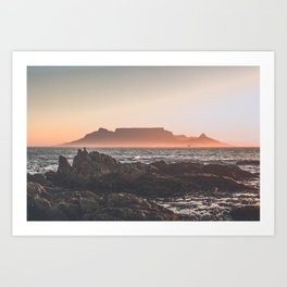 Table Mountain Sunset Art Print