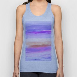 New World Horizon Shades of Lavender, Peach and Pink Unisex Tank Top
