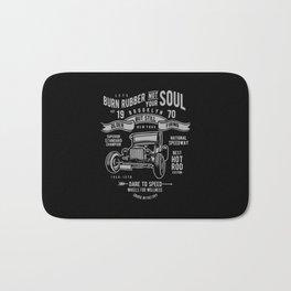 burn rubber not your soul Bath Mat