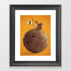 Conquering the biggest nut Framed Art Print