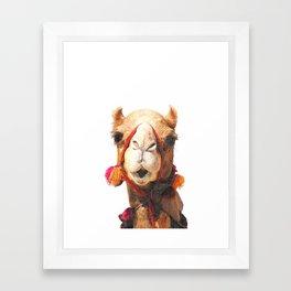 Camel Portrait Framed Art Print