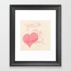 Sweetheart // overlay Framed Art Print