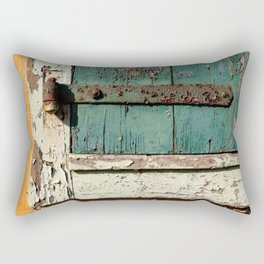 Old Wood an Rusty Grunge Barn Door Rectangular Pillow