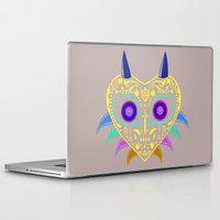 majora Laptop & iPad Skins featuring Dia de los Majora - Legend of Zelda by Katie Halliday