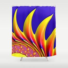 Crown Fractal Shower Curtain