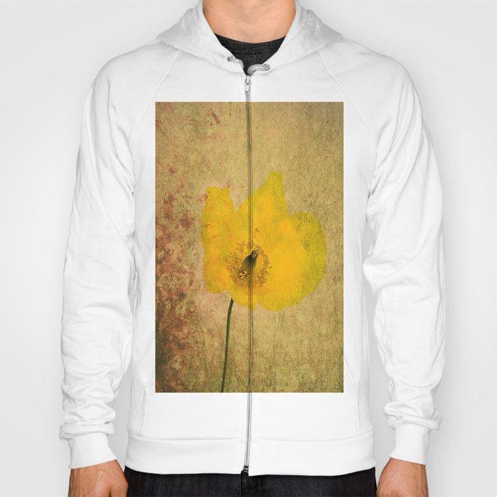 Antique Yellow Flower Hoody