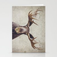 moose Stationery Cards featuring Moose by Retro Love Photography