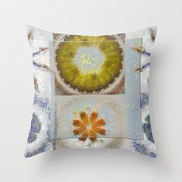 Heronbill Content Flower  ID:16165-155700-92131 Throw Pillow