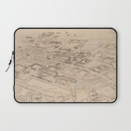 Vintage Pictorial Map of Oxford England (1850) Laptop Sleeve