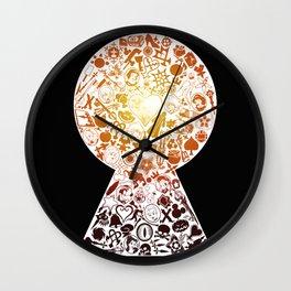 Kingdom Keyhole (red) Wall Clock
