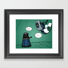 When their powers combine... Framed Art Print
