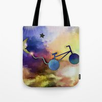 ufo Tote Bags featuring UFO by iPhone Photo Art