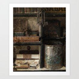 General Store Items At Lang Pioneer Village Art Print