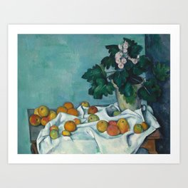 "Paul Cezanne ""Still Life with Apples and a Pot of Primroses"" Art Print"