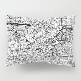 Munich White Map Pillow Sham