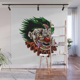 zombie evil clown Wall Mural