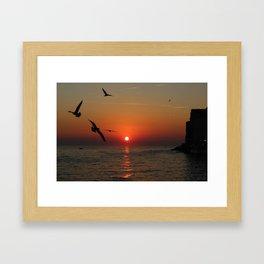 Sunset in Rovinj, Croatia - summer vibes Framed Art Print