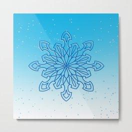Snowflake Frost Metal Print