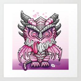Kawaii Deathwing Art Print