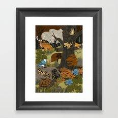 Ecosystem: Forest Framed Art Print