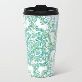 Paisley Mandala - Blue & Green Travel Mug