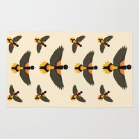 baltimore Area & Throw Rugs featuring Baltimore Oriole  by Alysha Dawn
