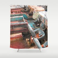 jeep Shower Curtains featuring Jeep by Mario Sa