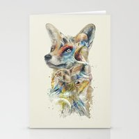 starfox Stationery Cards featuring Heroes of Lylat Starfox Inspired Classy Geek Painting by Barrett Biggers