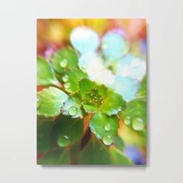 Mosaic Plant Metal Print