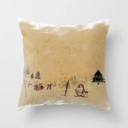 Vintage Santa clothesline Throw Pillow