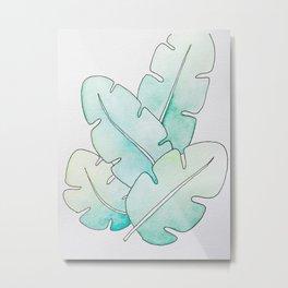 Tropical Watercolors Metal Print