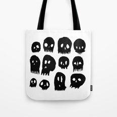 Spooky Skulls Tote Bag