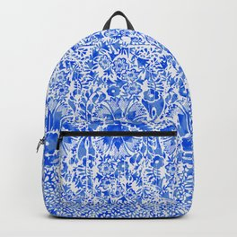 sun floral paisley in ocean blue Backpack