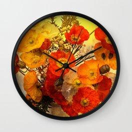 Poppy Expressions Wall Clock
