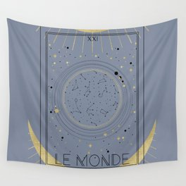 The World or Le Monde Tarot Wall Tapestry