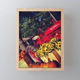 Tractor Framed Mini Art Print