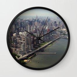 New York City near the river Wall Clock