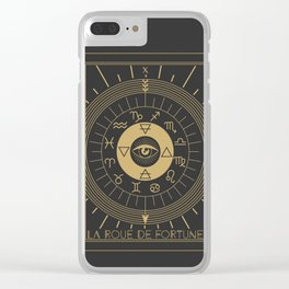 La Roue de Fortune or Wheel of Fortune Clear iPhone Case