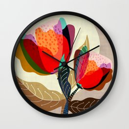 Floral Reverie no2 Wall Clock