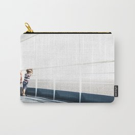 Child staring at the sea Carry-All Pouch