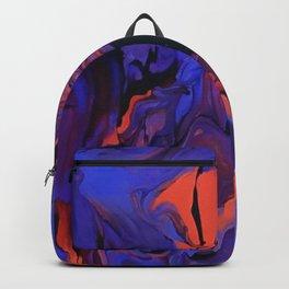 Blue, Teal and Orange Fantasy Backpack