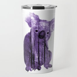 Misty Forest Koala Bear - purple Travel Mug