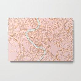 Rome map Metal Print